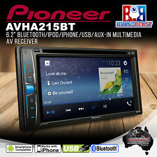 """Pioneer Avh-a215bt 2 DIN 6.2"""" Media Receiver With Usb/dvd and Bluetooth Rev Cam"""