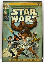 """Star Wars Tin Wall Sign Comic Book Cover 8.5"""" x 13"""" The Sound of Armageddon Used"""