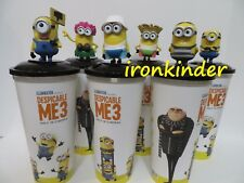 Despicable Me 3 Movie Full set Cinema Movie Figure Topper + Cup