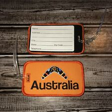 2 Australia Embroidered Patch Luggage Tags Pair Travel Boomerang