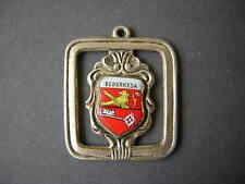 Wappen Anhänger emailliert Bedereska ANTIKO 100 versilbert 2,9 x 2,4 cm/7,4 g