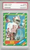 1986 TOPPS #161 JERRY RICE ROOKIE, PSA 8 NM-MT, SHARP, SF 49ERS, HOF L@@K !
