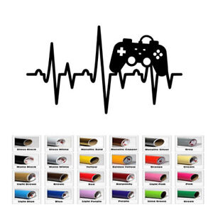 Game Control Heartbeat Decal Sticker for Home Car Window Wall Macbook Laptop Art