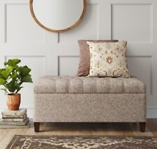 Threshold Erving Large Tufted Storage Bench, Beige