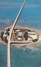 Aerial View 7 Mile Bridge Florida Keys Postcard Pigeon Key