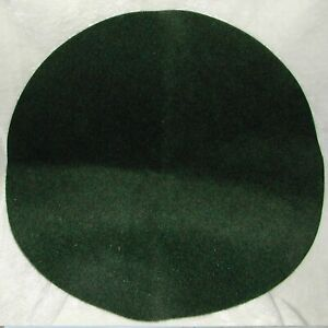 Green Christmas Tree Round Floor Protector Pad Mat 30 Inch Circle