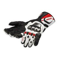 Ducati Corse C2 D1 Gloves Full Metal Leather Motorbike Racing Gloves