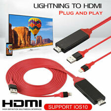 Lightning to 1080p 8Pin HDMI HDTV TV AV Cable Cord Adapter For iPhone 6 7 8 x pl