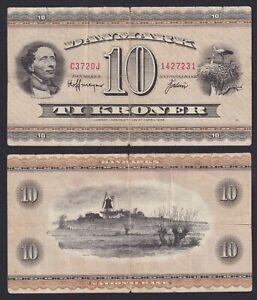Danimarca 10 kroner 1936 BB-/VF-  A-04