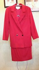 Women's Christian Dior red 2 Piece Suit The Suit Size 4 USA
