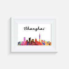 Shanghai China, print, poster, picture, gift, wall art, home decor, travel