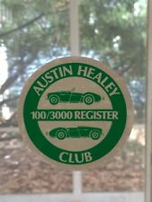 Vintage INSIDE WINDOW CLING - Austin Healey 100/3000 Register Club