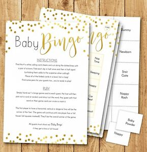 Baby Shower Games ~ Baby Bingo Game (20 Player) Boy Girl Unisex