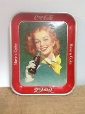 Vintage Coca Cola Tray Lot Of 4 Have A Coke Girl W Wind Refreshes Rare Picnic