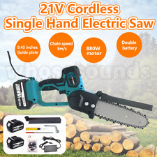 OneHand 880w Electric Cordless Chainsaw Pruning Shears Chain Saw With Battery AU