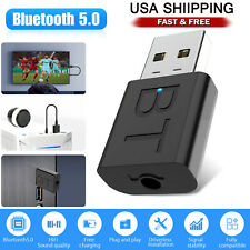 Bluetooth 5.0 Transmitter & Receiver Wireless Adapter Audio 3.5mm A2DP TV Stereo