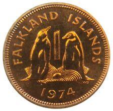 (P53) - Falkland Islands - 1 Penny 1974 - Eselspinguine Penguins - Proof - KM# 2