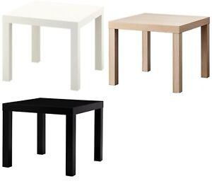 IKEA Lack Beistelltisch Tisch Teetisch Sofatisch 55x55 cm Weiß, Schwarz, Eiche