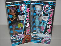 NEW MONSTER HIGH DEAD TIRED ABBEY & CLAWDEEN DOLLS