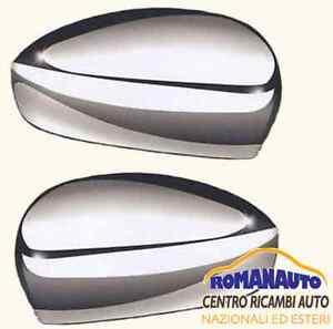 COPPIA CALOTTE COPPE SPECCHIO FIAT GRANDE PUNTO & 500 DAL 2007 CROMATE
