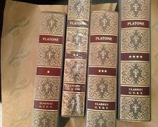 Platone, Dialoghi Filosofici, Dialoghi politici Lettere 4 volumi  Utet