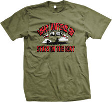 What Happens On The Boat Stays On The Boat Fishing Mens T-shirt