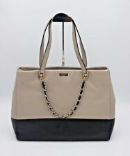 Kate Spade New York Town Road Francesca Leather Beige Black Shoulder Bag $548