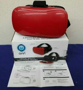 "NIB Onn Virtual Reality Smartphone Headset - Red - Use Screens Up To 6"""