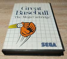 Sega Master System // Great Baseball + OVP // dt. PAL