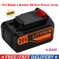 For Black & Decker 20V 4.0Ah Max Lithium Ion Battery LB2X4020-OPE LBXR20 LBX20