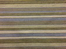 TOP QUALITY GREY GREEN WHITE GOLD STRIPE UPHOLSTERY FABRIC MATERIAL SALE!