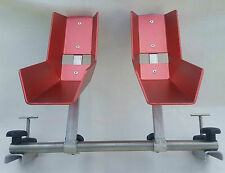 VW T5 T6 Fahrradständer für 2 Räder im Innenraum Radbreite 6cm-9,2cm NEU rot(SS)