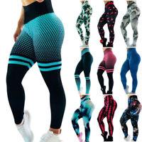3D Women Ruching Butt Push Up Leggings Yoga Apparel Anti-Cellulite Scrunch Pants
