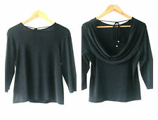 Dolina sz 12 Black Cowl Neck Top