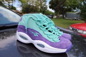 Reebok Question SNS Packer Mid Teal Basketball Sneakers