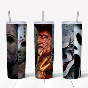 Five Icons of Horror Movies Tumbler- Birthday Gift For Friends