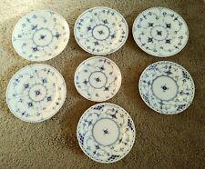 7 Royal Copenhagen Blue Fluted tea plates & more, chipped