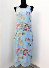 TOGETHER Freizeitkleid Sommerkleid lang-schön-edel Blumenprint Gr.34 blau Viskos
