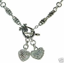 Premier Designs Two Hearts Toggle Necklace