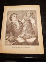Antique Book Print - PETER THE GREAT AND LITTLE POUPÈE- 1894