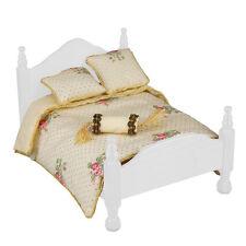 Reutter porzellan couverture de jour/rose queen bed Comforter set poupée 1:12