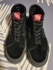 Suede Black VANS High-Top Mens size 7.5 Skater Shoes Sneakers Skateboarding Teen