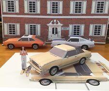 Papercraft Charlies Angels T.V. show Ford Mustang II Paper Model Car EZU-make