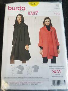 Burda Jaket Pattern 6737 Size 8-20 New