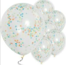 Confetti Balloons Multicoloured Birthday Party Pack Of 6 NEW