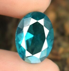 13 x 10 mm Oval Copper Blue Paraiba Tourmaline Natural 4.10 Ct Certified A62334