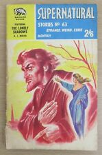 Supernatural Stories No 63, A J Merak, Badger Books, 1960s