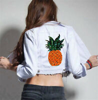 Pineapple DIY Embroidered Sew Iron on Patch Badge Bags Clothes Dress Applique@