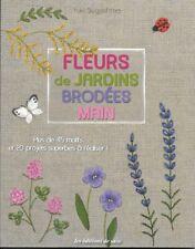 FLEURS de JARDINS BRODEES MAIN