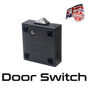 Wardrobe Light Switch - Door Cabinet Cupboard Switch - 2 Amp - Black *UK Seller*